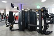 Das modern eingerichtete Studio von Clever Fit gegenüber von Ikea sorgt mit seinem gesamten Klima für Spaß beim Sport. Fotos: Franziska Sommer