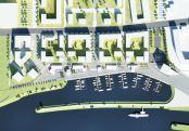 Plan zur Hafencity in Dresden Visualisierung: USD/Woerner und Partner