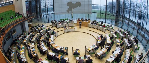 Debatte im Plenum des Landtags in Dresden. Foto: Arno Burgi/Archiv