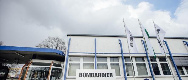 Der Werkseingang vom Waggonhersteller Bombardier in Görlitz. Foto: Oliver Killig/Archiv
