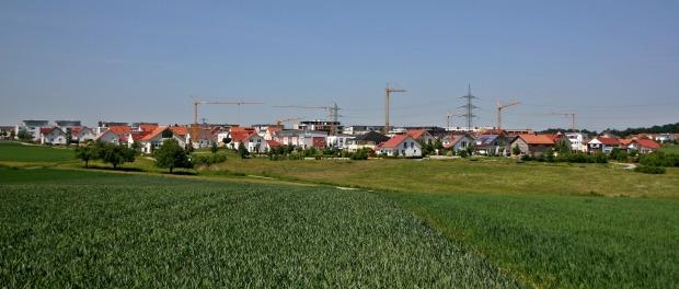 Ein im Bau befindliches Wohngebiet.
