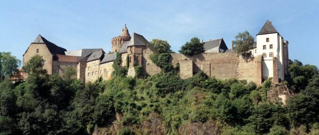 Die Burg Mildenstein mit dem Herrenhaus (Mitte) in Leisnig. Foto: Wolfgang Kluge/Archiv