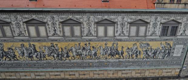 Der Fürstenzug in Dresden. Foto: Matthias Hiekel/Archiv