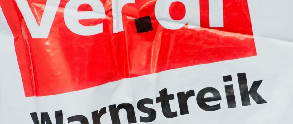 Eine Streikweste mit der Aufschrift